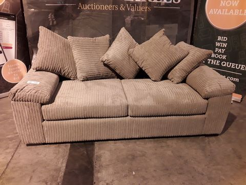 Lot 509 DESIGNER KHAKI JUMBO CHORD THREE SEATER SOFA
