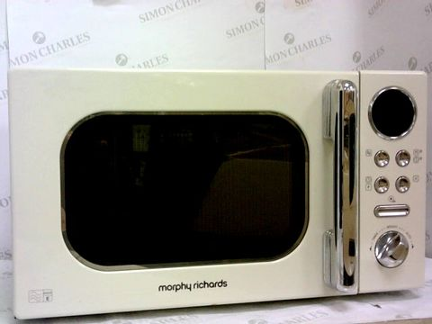 Lot 74 MORPHY RICHARDS ACCENTS 20L 800W MICROWAVE CREAM
