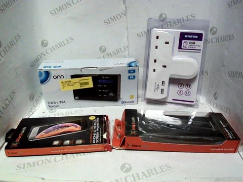 Lot 8118 LOT OF APPROXIMATELY 10 ASSORTED ELECTRICAL ITEMS, TO INCLUDE DAB+ RADIO, POWER BANK, USB SOCKET, ETC