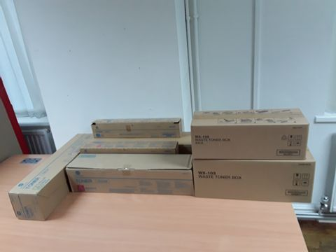 Lot 22 ASSORTED TONERS AND WASTE TONER BOXES