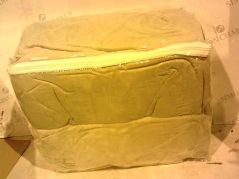 Lot 15698 COZEE HOME BUTTERFLY EMBOSSED FAUX MINK & VELVETSOFT 4 PIECE DUVET SET - TAUPE DOUBLE