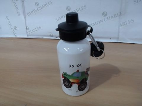 Lot 1038 PERSONALISED MONSTER TRUCK DRINKS BOTTLE RRP £14.99