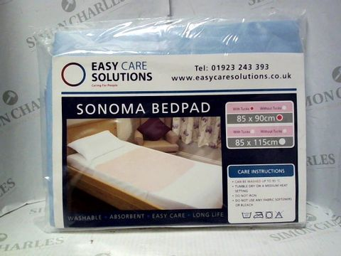 Lot 7625 EASY CARE SOLUTIONS SONOMA BEDPAD 85X90CM