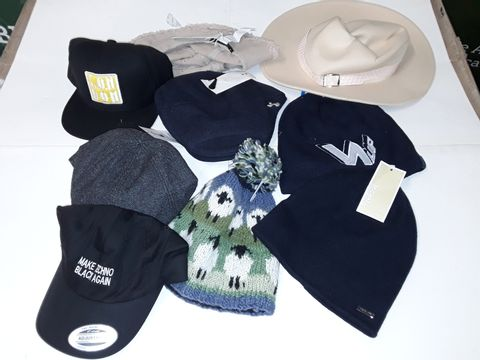 Lot 46 LOT OF 9 ASSORTED HATS TO INCLUDE MICHAEL KORS BEANIE AND SPURS FC FLAT CAP