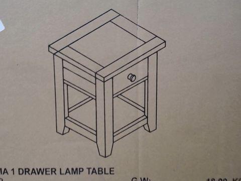 Lot 1242 ASTORIA LAMP TABLE - OAK