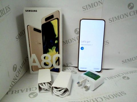 Lot 4731 BOXED SAMSUNG GALAXY A80 128GB ANDROID SMART PHONE - ANGEL GOLD