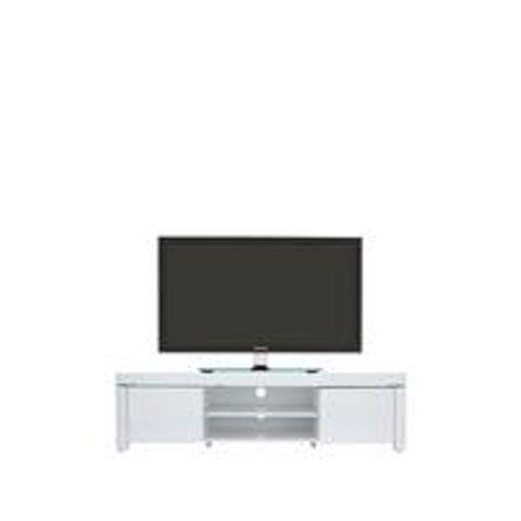 Lot 5285 ATLANTIC WHITE GLOSS TV UNIT