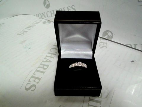 Lot 9040 LOVE DIAMOND 9 CARAT WHITE GOLD, 35 POINT 5 CLUSTER ETERNITY RING RRP £629.00