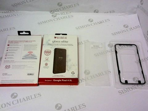 Lot 63 BRAND NEW BOX OF APPROXIMATELY 100 INVISIBLE SHIELD GLASS ELITE FOR GOOGLE PIXEL 4 XL