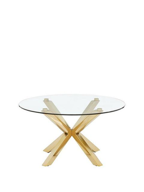 Lot 7231 CHOPSTICK GLASS AND BRASS COFFEE TABLE