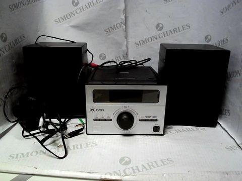 Lot 10462 ONN CD MICRO SYSTEM