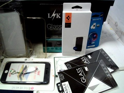 Lot 169 LOT OF APPROXIMATELY 37 ASSORTED PHONE CASES, SCREEN PROTECTORS, CABLES ETC