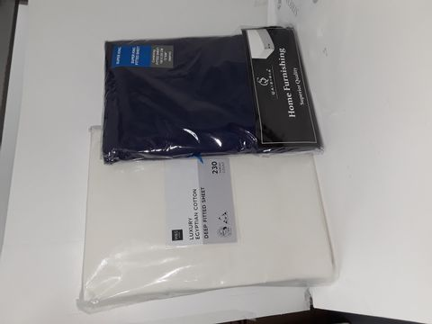 Lot 4161 2 X KING SIZE FITTED SHEETS