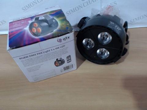 Lot 2065 MINI LED PARLIGHT - QTX RGBW DMX PAR 3 X 4W LED