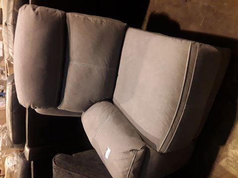 Lot 5054 ANNA DARK GREY POWER RECLINING END SECTION WITH CONTRAST STITCHING
