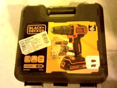 Lot 12147 BLACK AND DECKER  DRILL IN CASE
