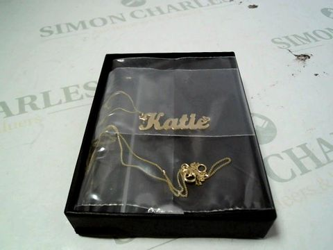 Lot 4158 9CT YELLOW GOLD PERSONALISED NAME SCRIPT NECKLACE RRP £164.00