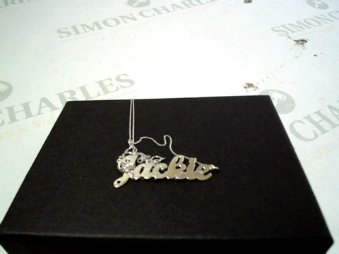 Lot 4175 9CT WHITE GOLD PERSONALISED NAME SCRIPT NECKLACE RRP £129.00