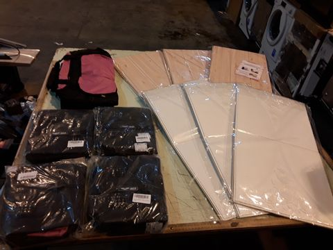 Lot 13563 PALLET OF ASSORTED BRAND NEW ADHESIVE WALL COVERINGS AND APPROXIMATELY 25 BRAND NEW BAGS