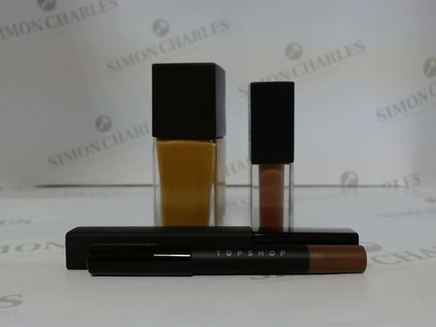 Lot 9465 BOX OF APPROXIMATELY 75 ASSORTED BRAND NEW MAKE UP ITEMS TO INCLUDE CINNAMON FOUNDATION, BOSS LIQUID LIPSTICK, KEYBOARD INTENSE MASCARA, ETC