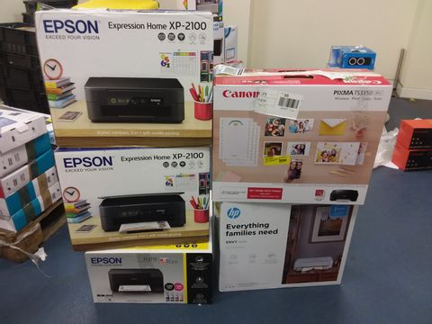 Lot 456 LOT OF APPROXIMATELY 5 ASSORTED PRINTERS TO INCLUDE CANON, HP AND EPSON