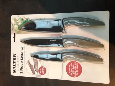Lot 559 SALTER 3 PIECE KNIFE SET