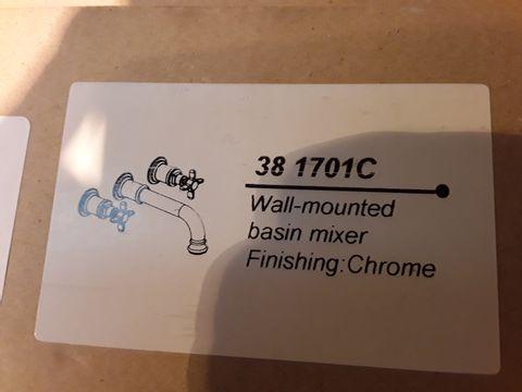Lot 10672 BOXED WALL MOUNTED BASIN MIXER CHROME