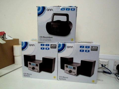 Lot 202 LOT OF 3 ONN CD PLAYER SYSTEMS