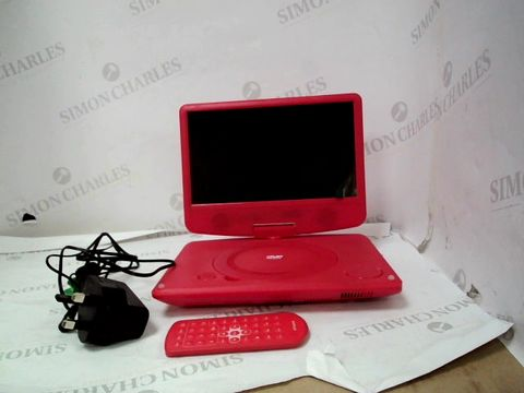 "Lot 10057 9"" PORTABLE DVD PLAYER - RED"