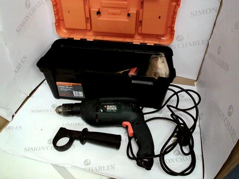 Lot 10505 BLACK & DECKER KD354E CORDED DRILL WITH CRAFTRIGHT TOOLBOX