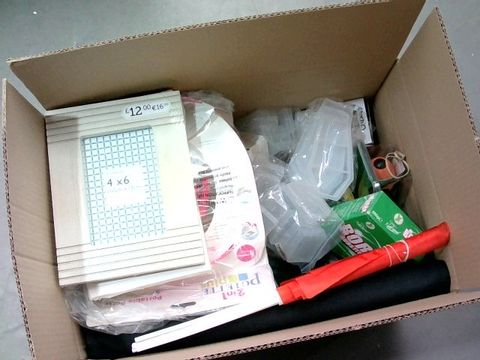 Lot 2291 BOX OF LARGE QUANTITY OF ASSORTED HOUSEHOLD ITEMS