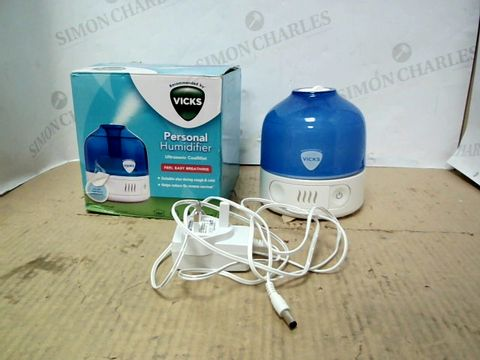 Lot 15436 VICKS PERSONAL HUMIDIFIER ULTRASONIC- COOL MIST