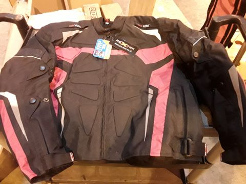 Lot 521 REXTEK PRO-FIRST PADDED & ARMOURED RED/BLACK MOTORCYCLE JACKET WITH TAGS SIZE XL