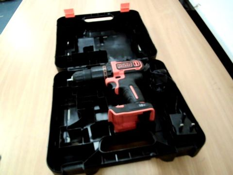 Lot 11448 BLACK AND DECKER BCD700S DRILL IN CASE