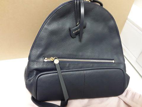 Lot 2079 DESIGNER RADLEY NAVY BLUE BACKPAC/CLUTCH BAG WITH DUST BAG