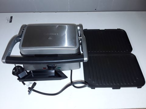 Lot 1126 CUISINART 2 IN 1 GRILL AND SANDWICH MAKER