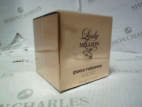 Lot 5087 BRAND NEW AND SEALED PACO RABANNE LADY MILLION EDP 50ML