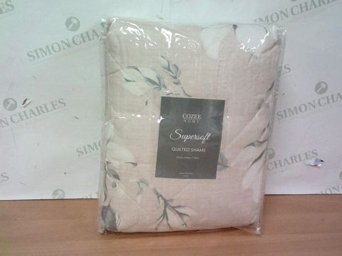 Lot 3255 SUPERSOFT BY COZEE HOME MADELINE FLORAL QUILTED SHAM SET