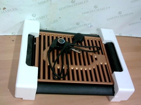 Lot 4084 GOTHAM STEEL COPPER NON-STICK ELECTRIC INDOOR GRILL