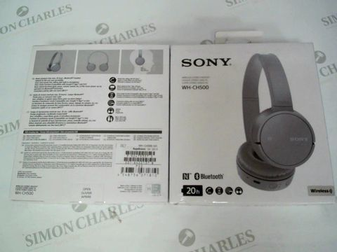 Lot 2456 BRAND NEW BOXED SONY WH-CH500 WIRELESS BLUETOOTH STEREO HEADSET17.00