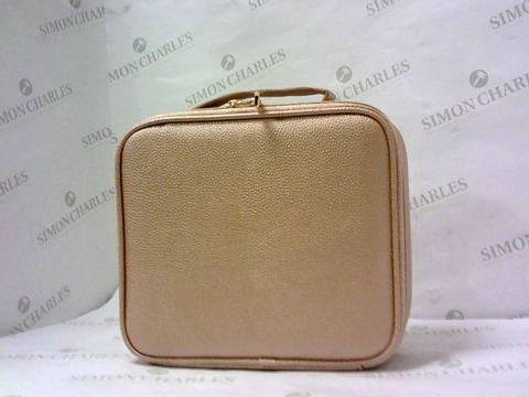 Lot 10421 TILI METALLIC MAKE-UP ORGANISER MEDIUM VANITY CASE - ROSE GOLD