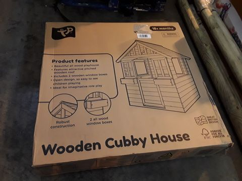Lot 6023 BOXED WOODEN CUBBY HOUSE (1 BOX)