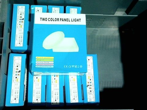 Lot 2200 LOT OF 10 BOXED TWO COLOUR PANEL LIGHTS