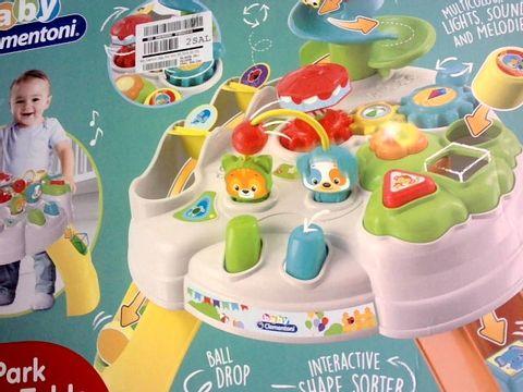 Lot 120 BABY CLEMENTONI HAPPY PARK TABLE  RRP £37.99