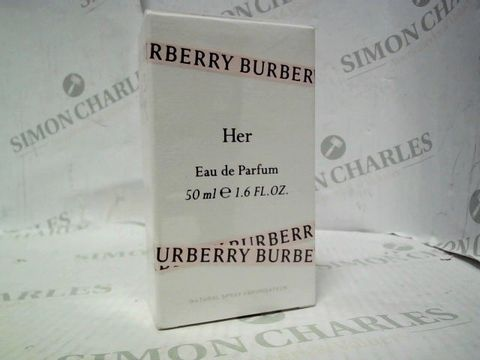 Lot 5057 BRAND NEW AND SEALED BURBERRY HER EDP 50ML
