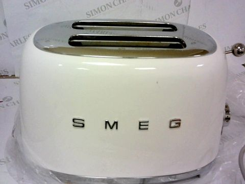 Lot 54 BOXED SMEG WHITE 2 SLICE TOASTER RRP £169.99
