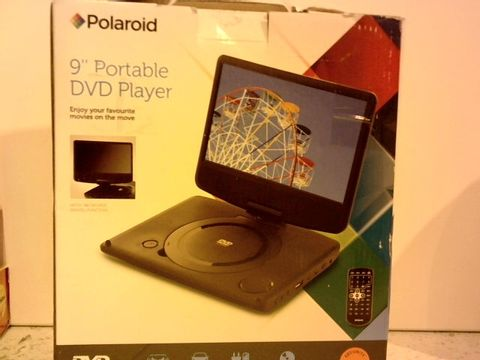 "Lot 12312 POLAROID 9"" PORTABLE DVD PLAYER"
