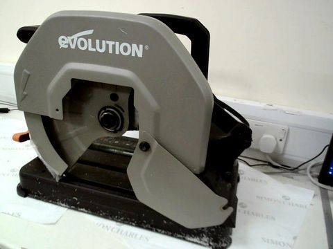 Lot 13401 EVOLUTION POWER TOOLS R355CPS MULTI-MATERIAL CHOP SAW