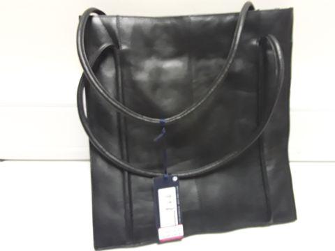 Lot 2044 DESIGNER M& S BLACK LEATHER HANDBAG  RRP £89.00