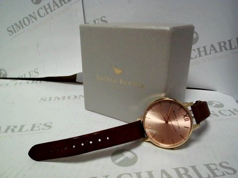 Lot 405 OLIVIA BURTON ROSE GOLD SUNRAY DIAL WATCH RRP £109.00